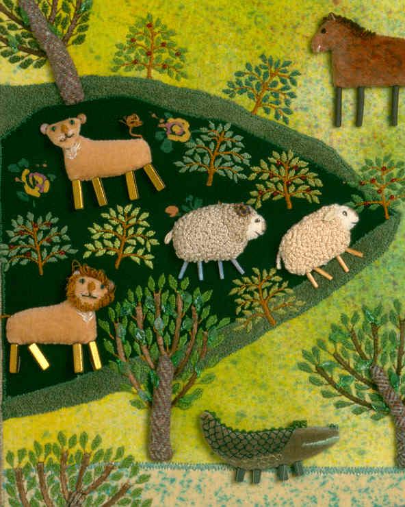 "Detail of ""Noah's Ark"", 9"" x 12"", 1985"