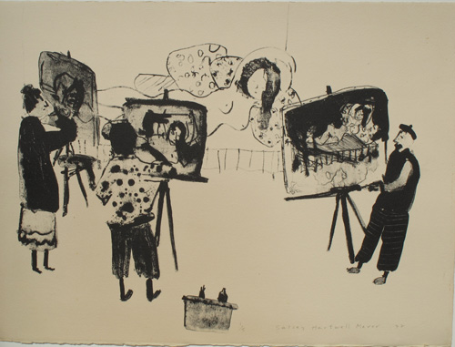 "'Life Drawing"" lithograph 1977"
