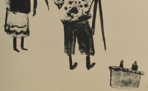 "detail from ""Life Drawing"" lithograph 1977"