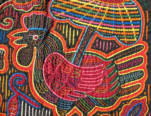 detail of rooster with umbrella
