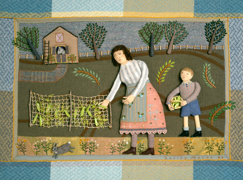 """Picking Peas"" fabric relief 1986"