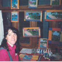 "in my studio with the finished illustrations from ""The Way Home"""