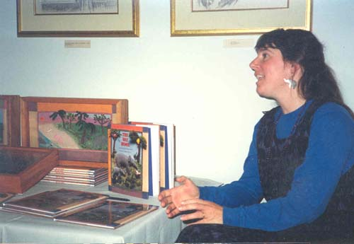Salley at a book signing
