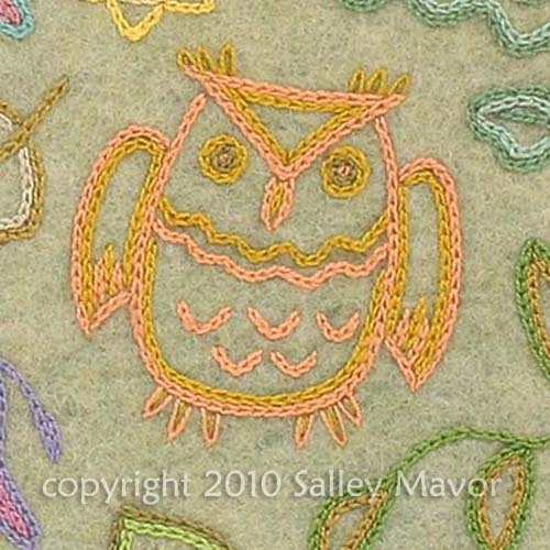 """detail from endpapers in """"Pocketful of Posies"""" 2010"""