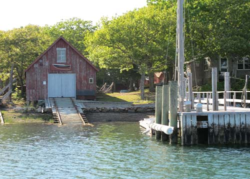 Boat House on Hadley's Harbor, Naushon Is.