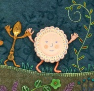 """detail from """" Pocketful of Posies"""" Houghton Mifflin 2010"""