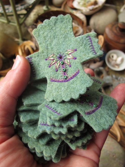 embroidered fairy tunics