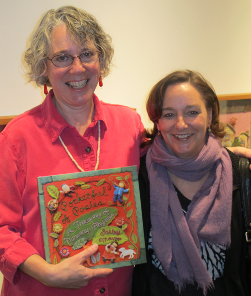 Salley with Houghton Mifflin editor Margaret Raymo