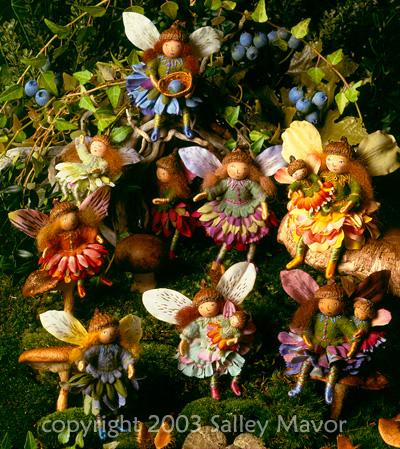 """fairies from """"Felt Wee Folk"""""""