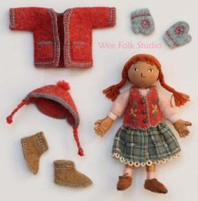Polly's Antarctic wardrobe