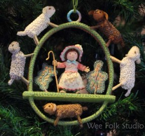 Little Bo-peep ornament
