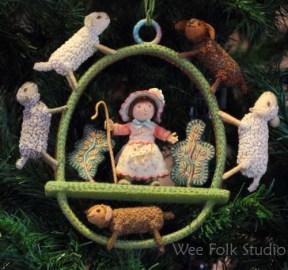 Little Bo-peep ornament