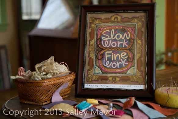 "Slow Work... Fine Work, 8.5"" x 11"" Print"