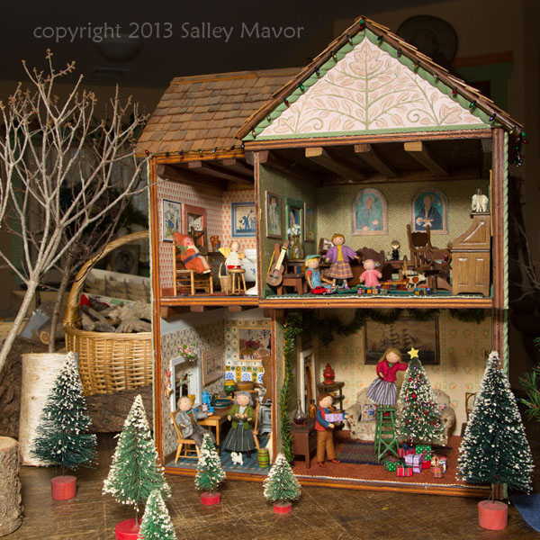 dollhouse decorated for Holidays at Highfield : SALLEY MAVOR