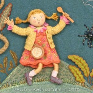 """Little Miss Muffet"" Pocketful of Posies"