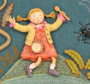 "detail from ""Little Miss Muffet"""