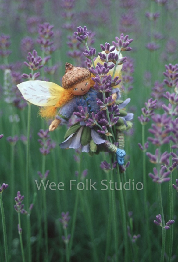 Lavender Fairy note card